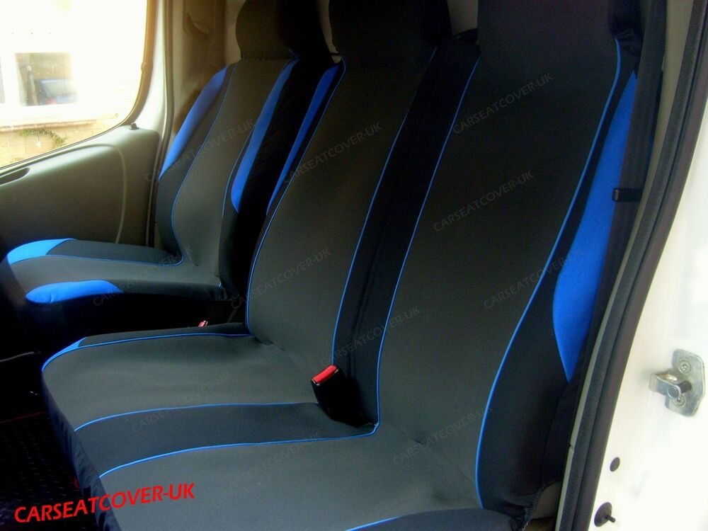 99df232d013dae Details about Ford Transit Custom Tourneo (12 on) BLUE MotorSport VAN Seat  COVERS 2+1