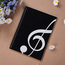 Blank Music Manuscript Writing Paper Book - Staff Notebook Black A4 50 Pages HOT