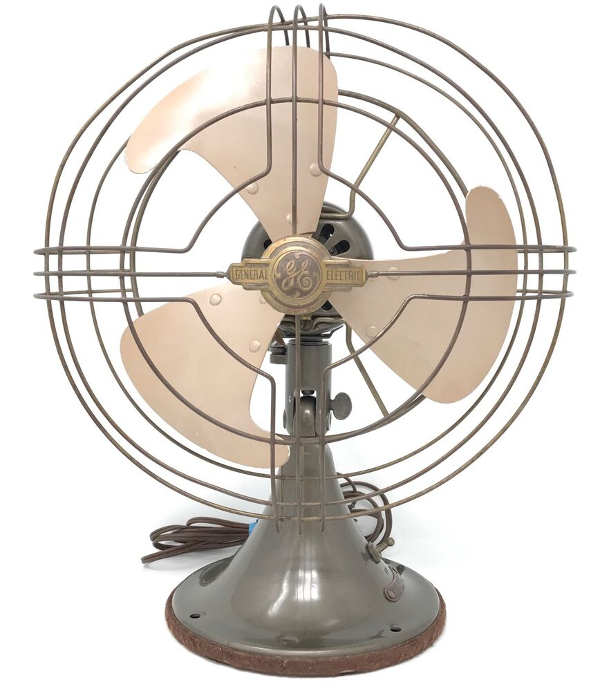 History About The Electric Fan : General electric oscillating fan s art deco vortalex