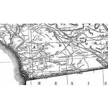 1883 CA Map Sunnyslope Surprise Valley Sutter Creek Taft Heights Mosswood Tahoma