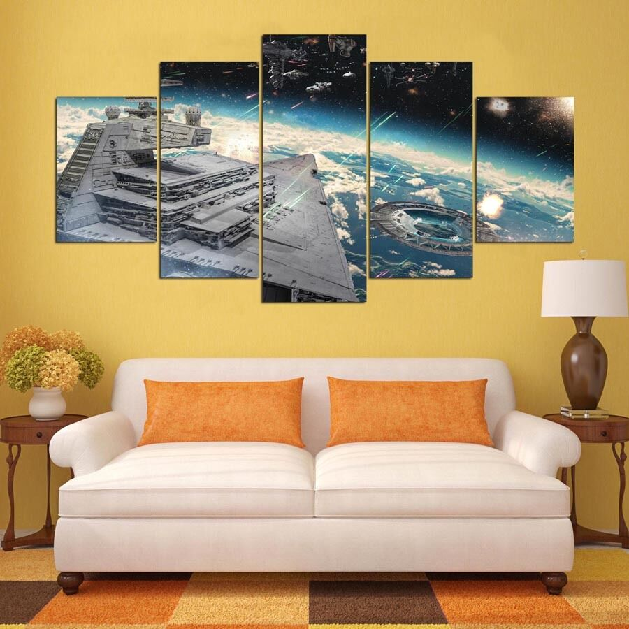 Star Wars Home Room Decor Canvas Wall Art Print Battleship Picture ...
