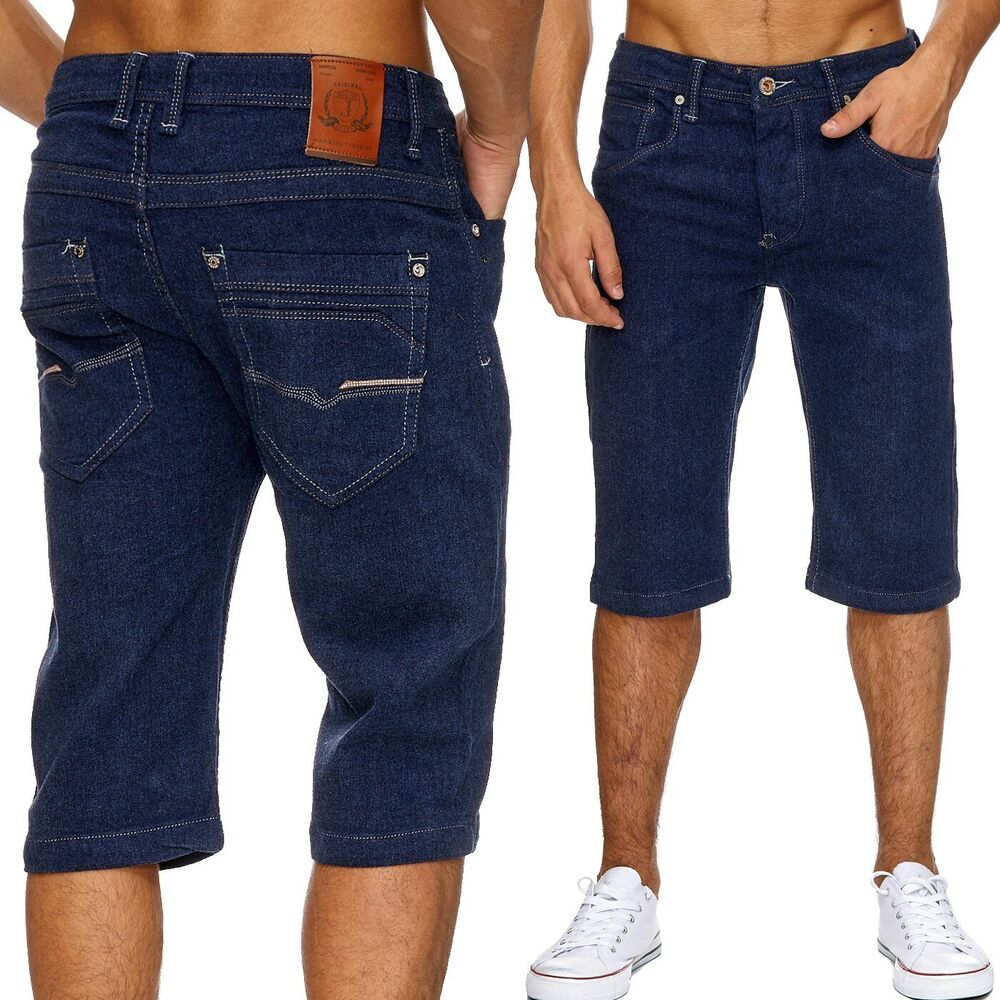 neu herren jeans klassische herrenshorts verwaschen hose shorts sommer top 3 4 ebay. Black Bedroom Furniture Sets. Home Design Ideas