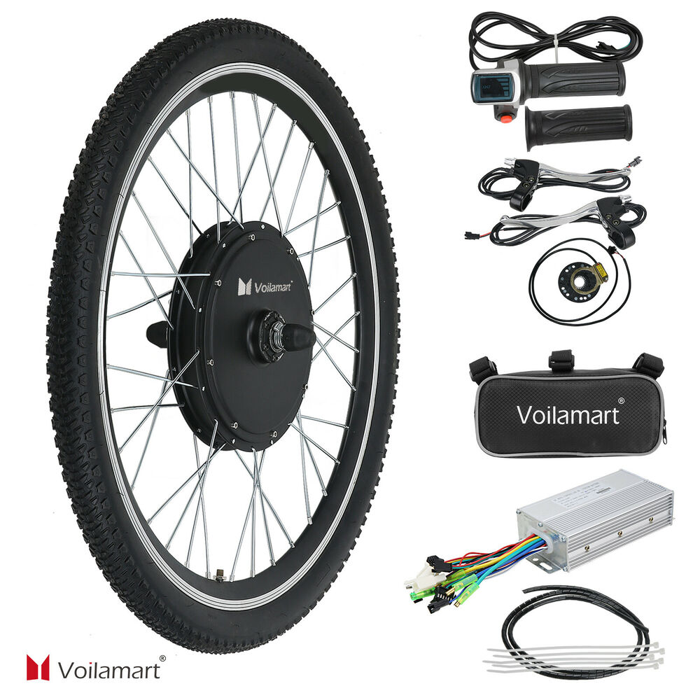 Recumbent Bike Electric Motor Kit: 48V Electric Bicycle Motor Conversion Kit 1000W Front