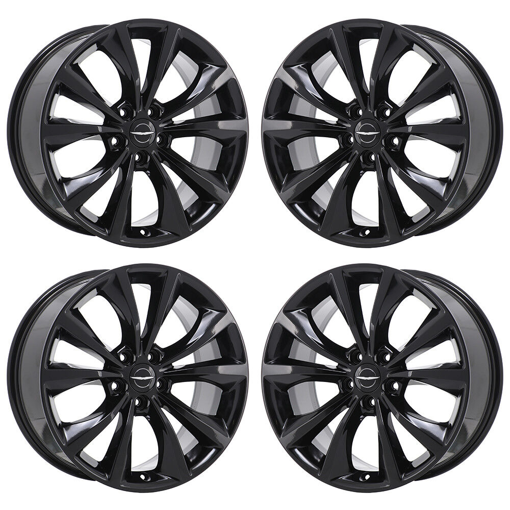 18 chrysler 200 black wheels rims factory oem 2015 2016. Black Bedroom Furniture Sets. Home Design Ideas