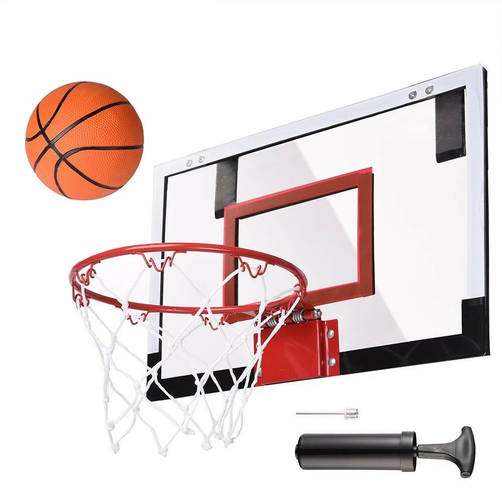 693a4908dda Details about Mini Basketball Hoop System Kids Goal Over The Door Wall Indoor  Sports with Ball