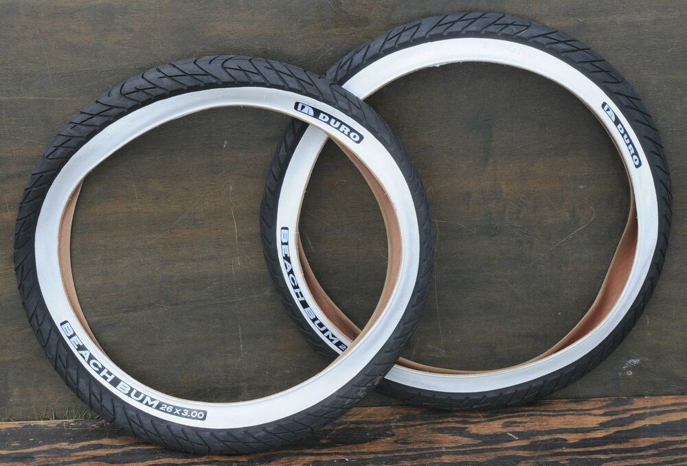 26 Quot X3 Quot Whitewall Cruiser Bicycle Slick Tires Vintage