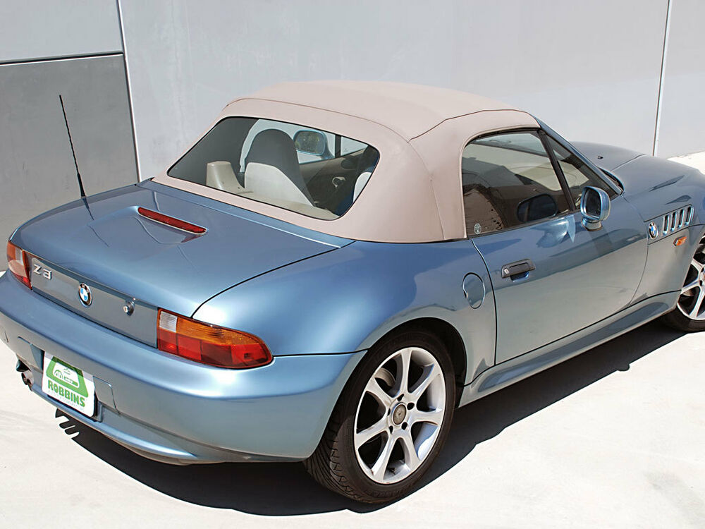 1996 02 Bmw Z3 Convertible Top Amp Plastic Wndw Oem Beigetwillfast Cloth W Cables Ebay