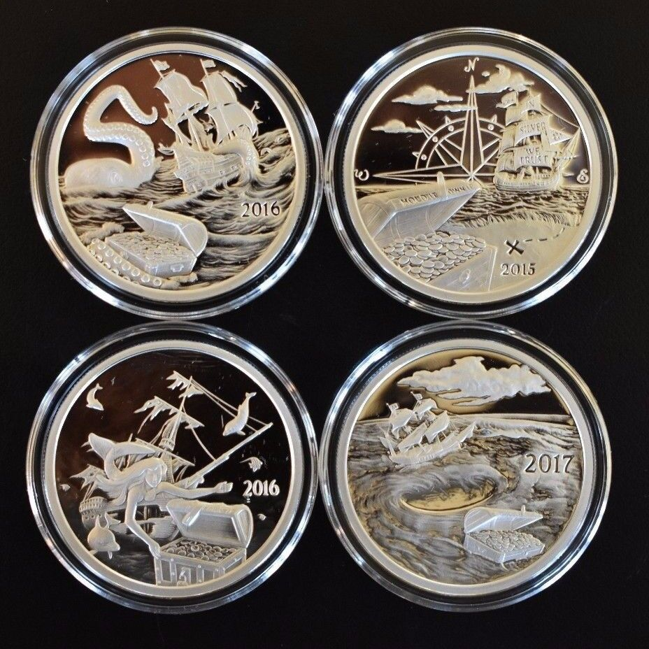 4 Oz Proof 999 Silver Rounds Coins Silverbug Island