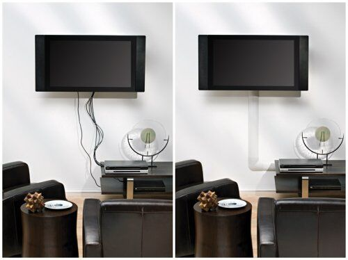 new white cable management covers cord wires hide wall. Black Bedroom Furniture Sets. Home Design Ideas