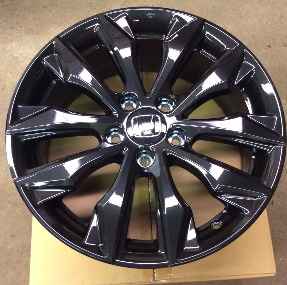 Genuine Oem Honda Civic 17 Quot Black Alloy Wheel 08w17 Tea