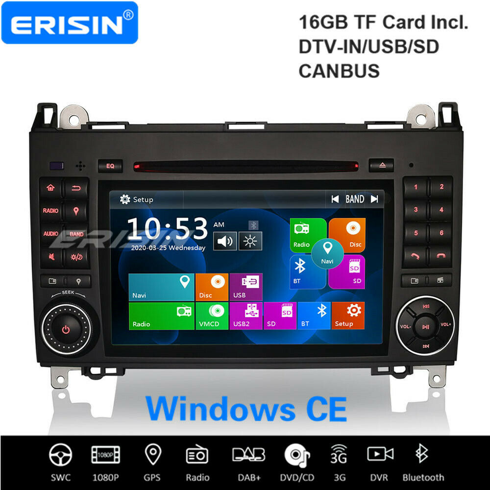 dab gps autoradio 3g dvb t mercedes benz a b class w169 w245 sprinter vito viano ebay. Black Bedroom Furniture Sets. Home Design Ideas