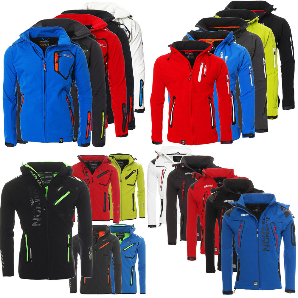 geographical norway herren softshell funktions regen sport jacke softshelljacke ebay. Black Bedroom Furniture Sets. Home Design Ideas