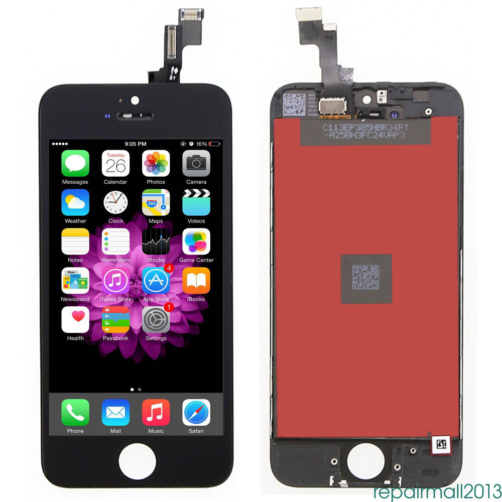iphone 5s black screen for iphone 5s black lcd display touch screen digitizer 14749