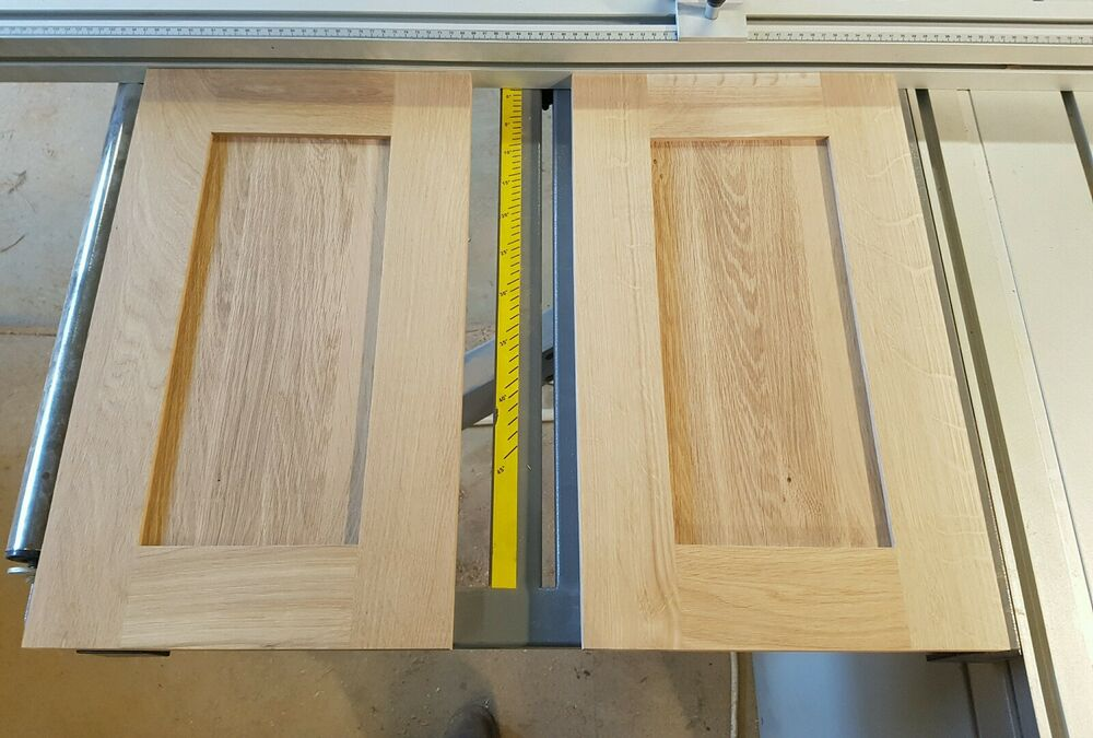 Hand Made Replacement Solid Oak Shaker Stile Kitchen Cabinet Doors Any Size Ebay