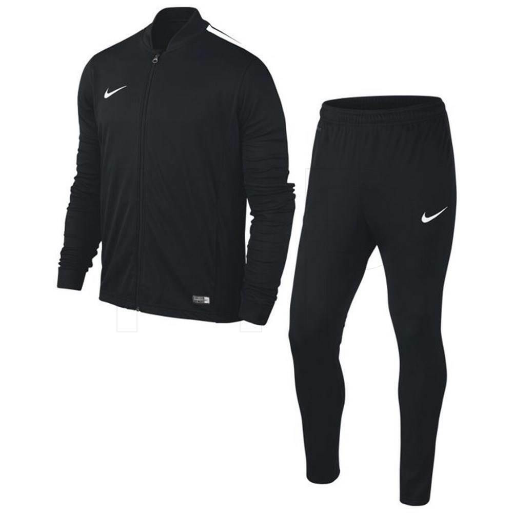 f42e08ae7088 Details about Nike Boys Kids Junior Football Tracksuit Full Training Tops  Bottoms Suit Black