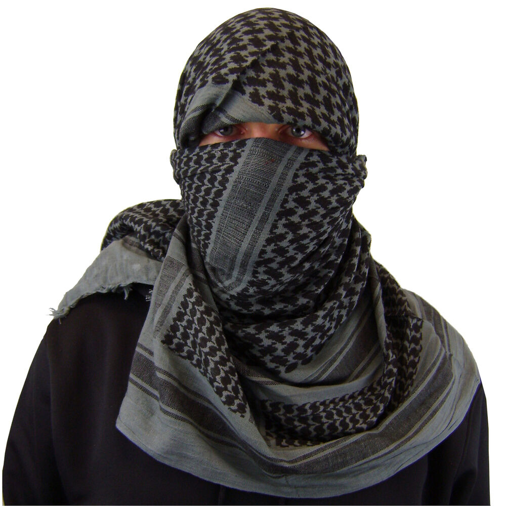 scarf shemagh desert tactical arab keffiyeh army military cotton scarves heavyweight bandana grey clothing face gry roman head wearing styles