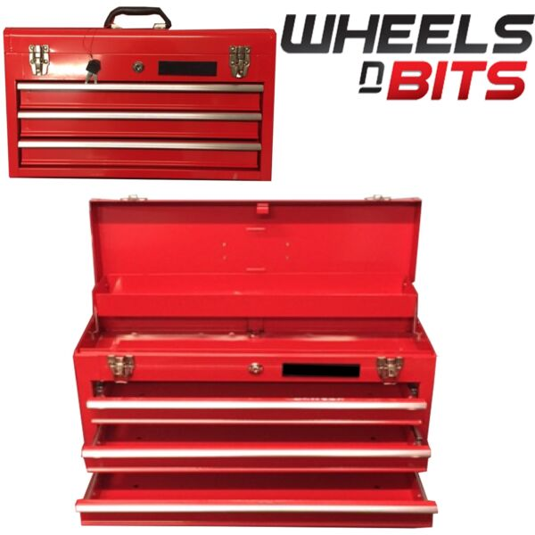 NEW METAL TOOL CHEST 3 DRAWER PORTABLE TOOL BOX STEEL STORAGE CHEST 23 INCH