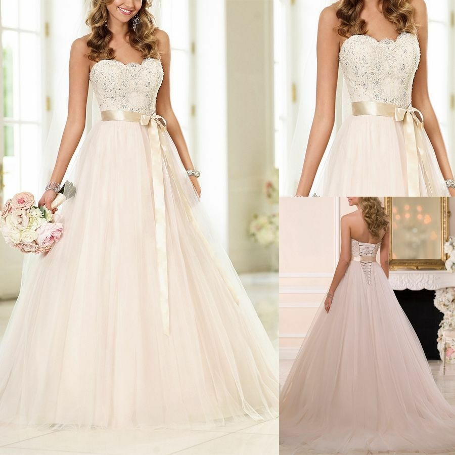 Gorgeous A-line White Or Ivory Wedding Dress Bridal Gown