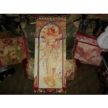 double sided canvas mucha art print