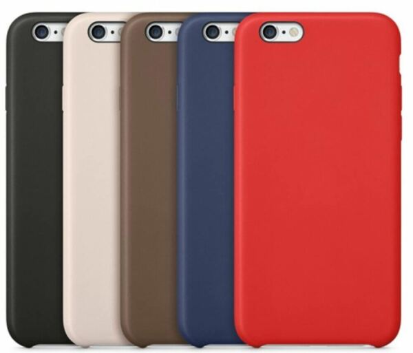Original PU Soft Silicone Leather Slim Case Cover Apple iPhone 10 8 7 Plus 6s 5