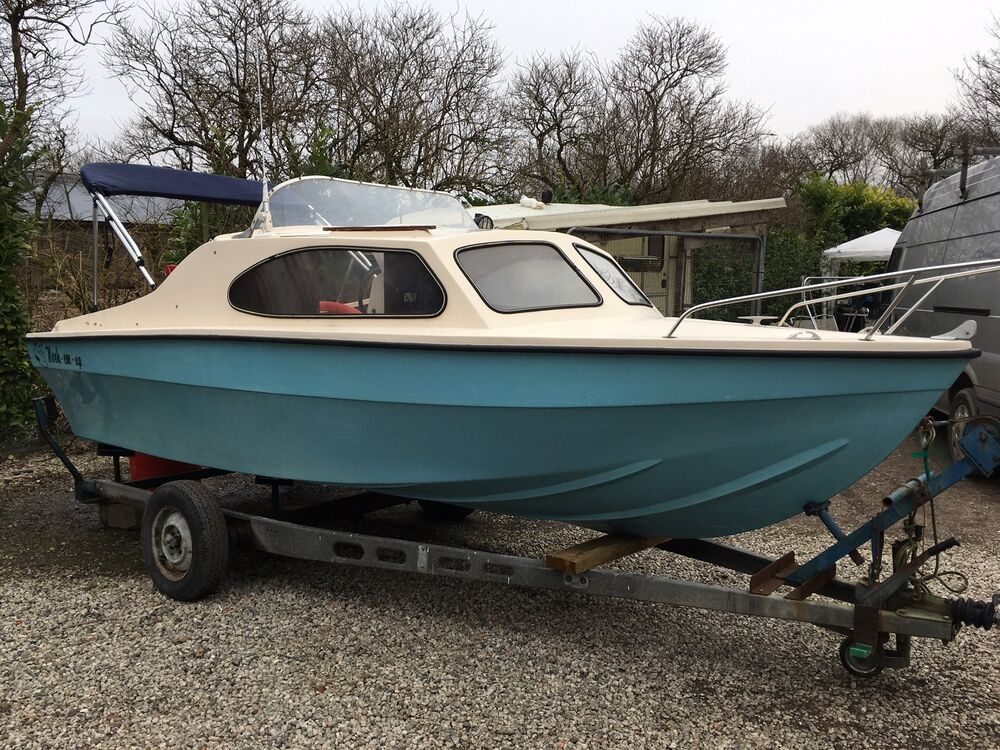 Shetland style 16ft day cruiser fishing boat power by 60hp for Ebay fishing boats