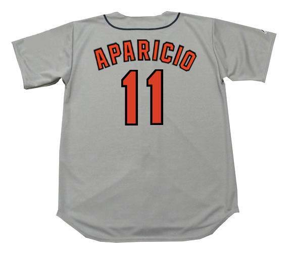 bc66ac076 LUIS APARICIO Baltimore Orioles 1967 Majestic Cooperstown Away Baseball  Jersey
