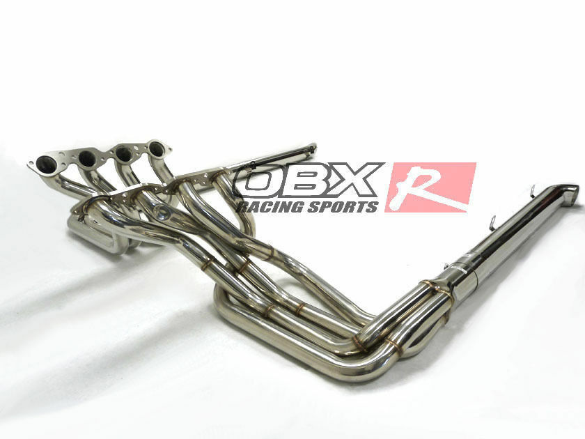 Obx Headers W Side Pipes For 65 82 Chevy Corvette Bbc Big