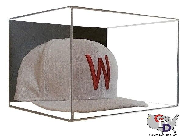 Acrylic Wall Mount Hat Or Cap Display Case Clear Uv