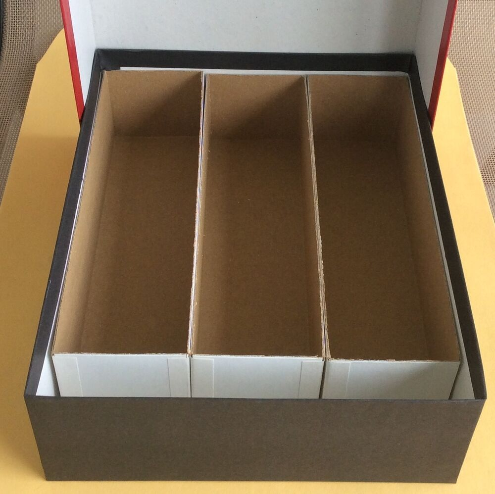 New red triple row coin storage box for 2 x 2 holders 2 for Money storage box