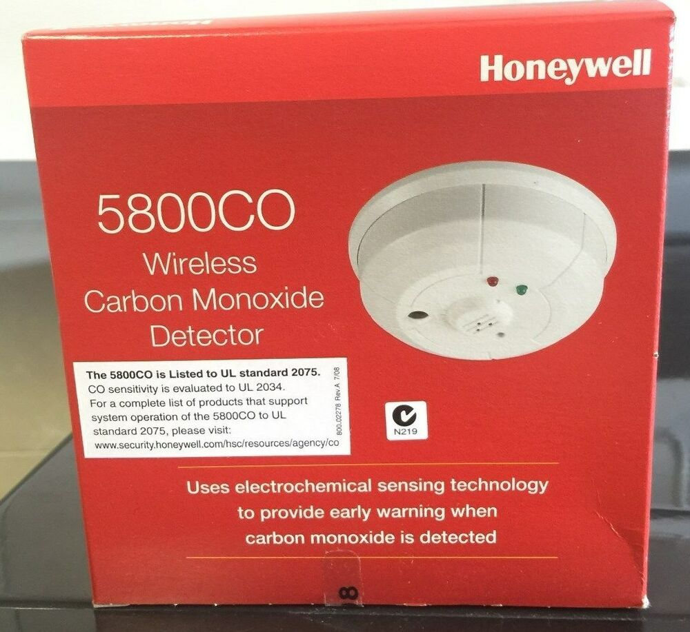 brand new honeywell 5800co wireless carbon monoxide detector co exp jan 2023 ebay. Black Bedroom Furniture Sets. Home Design Ideas