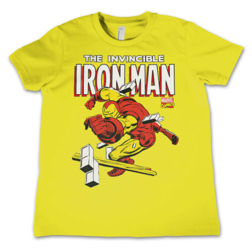 Officially Licensed The Invincible Iron Man Kids T-Shirt Ages 3-12 Years