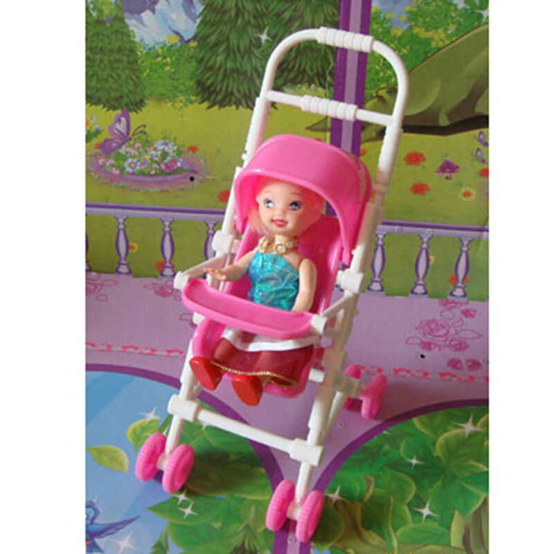 new assembly baby stroller trolley nursery furniture toy for barbie kelly doll ebay. Black Bedroom Furniture Sets. Home Design Ideas