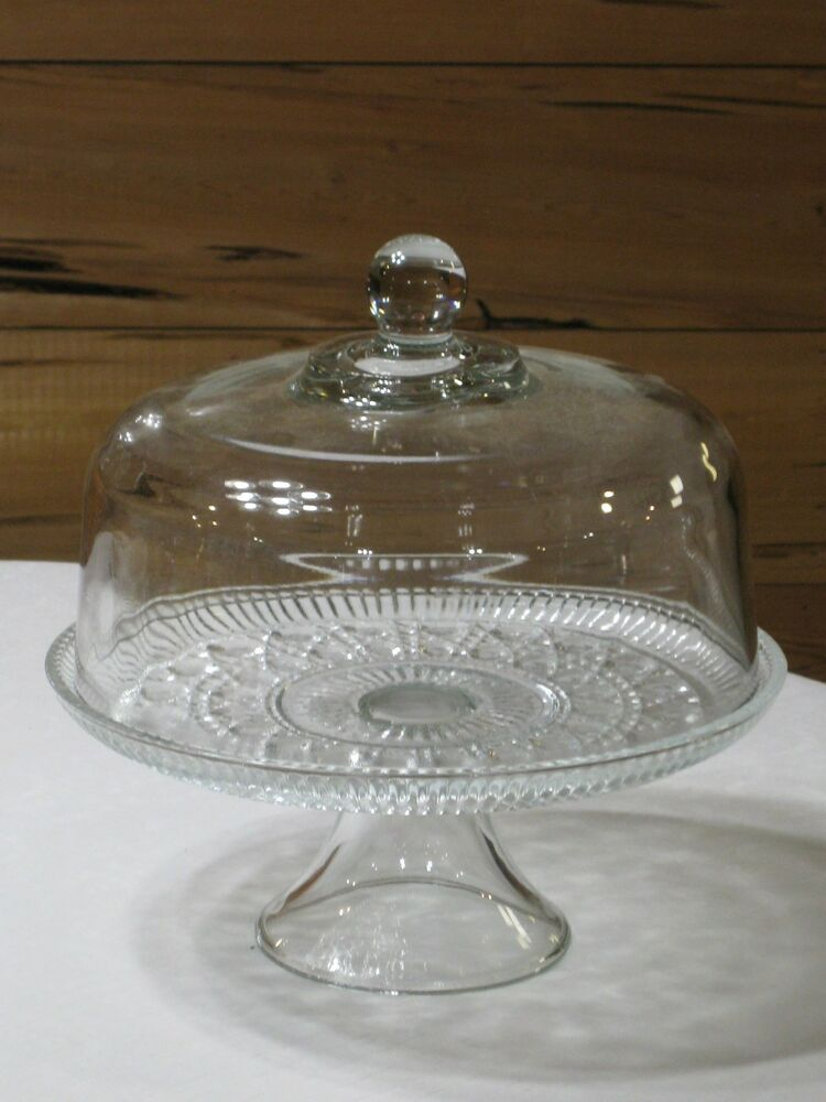 cake stand with cover vintage federal button amp cake pedestal with 2336