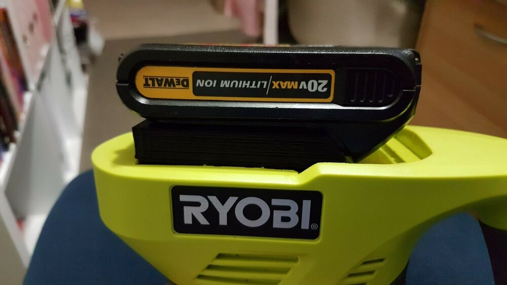 18v Adapt Dewalt Lithium Battery Adapter To Fit Ryobi One
