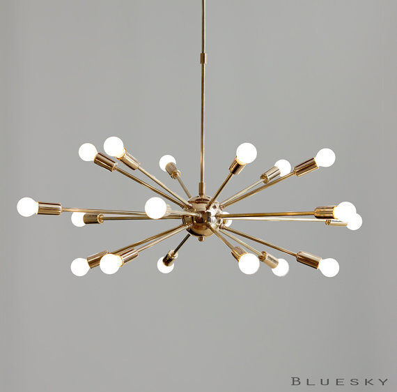 18 Lights Arms Sputnik Starburst Light Fixture Chandelier