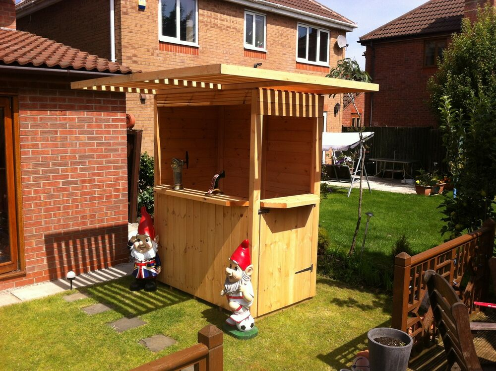 Corner sports bar garden bar shed quality timber t g for Garden shed bar