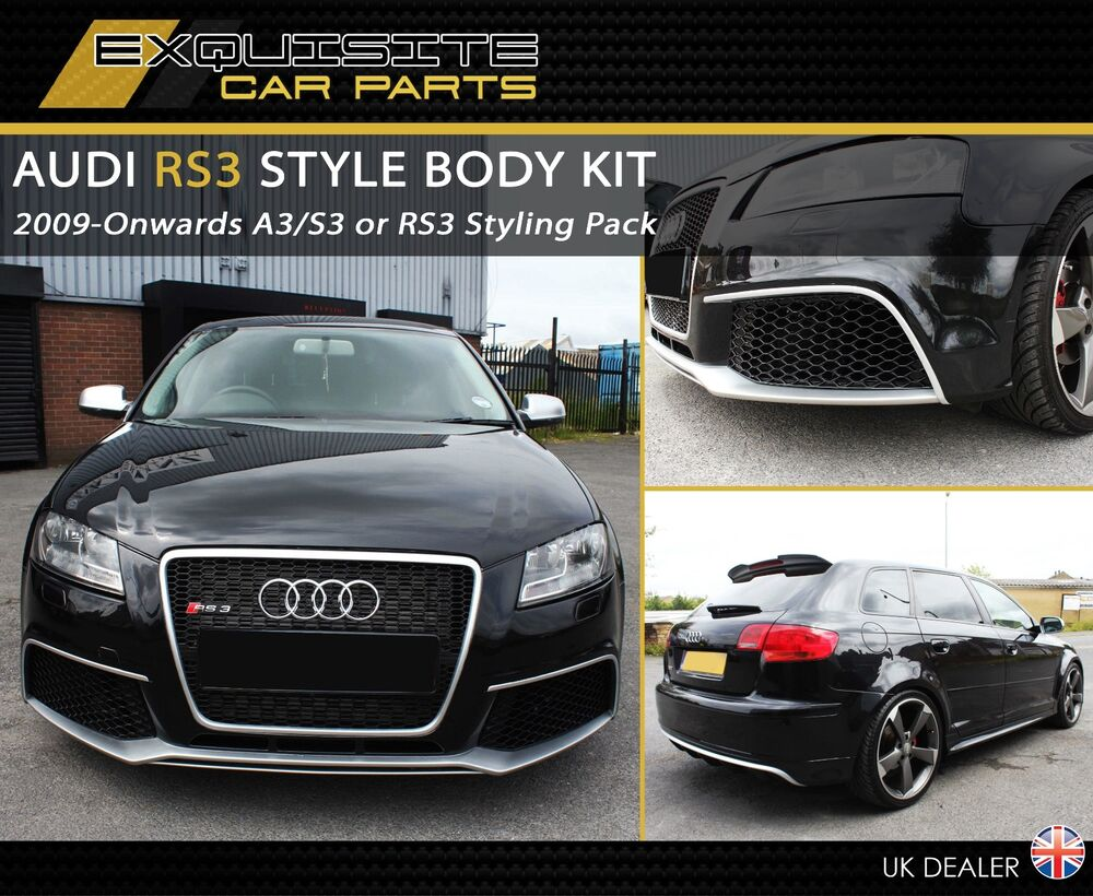 audi a3 s3 rs3 8p bodykit kit conversion facelift upgrade. Black Bedroom Furniture Sets. Home Design Ideas