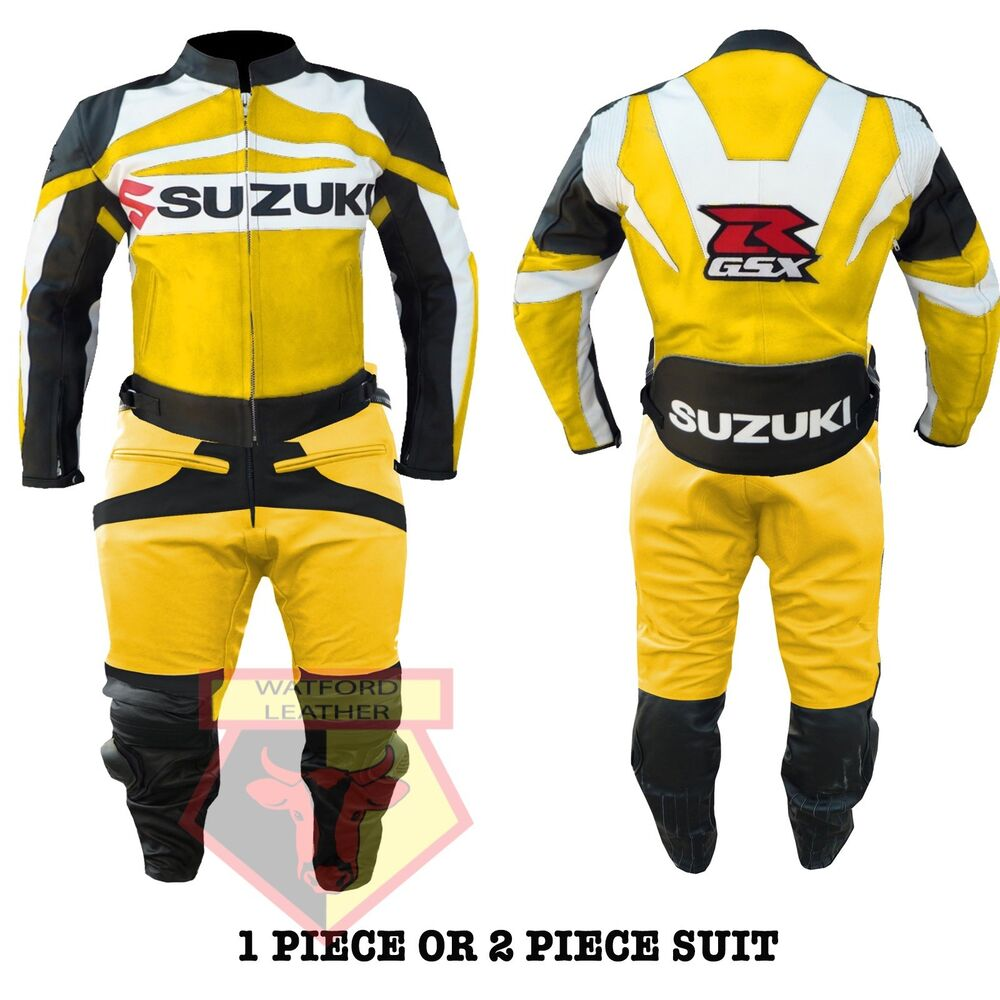Motorcycle Street Gear Suzuki Gsx Orange Motorbike Motorcycle Cowhide Leather Armoured Pant/trouser High Quality Materials