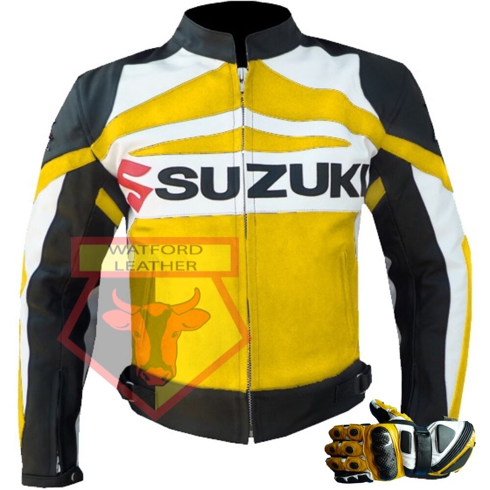 Suzuki Gsx Orange Motorbike Motorcycle Cowhide Leather Armoured Pant/trouser High Quality Materials Pants