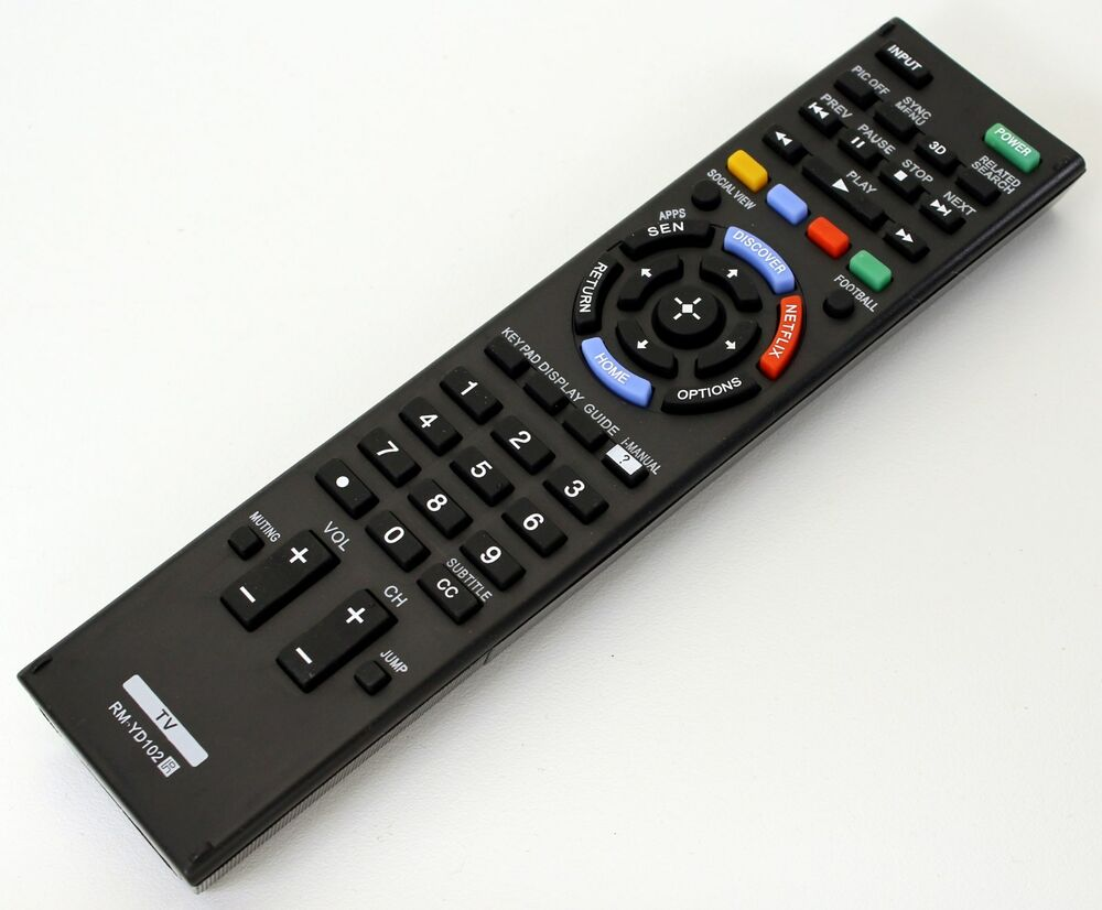 sony bravia remote control instructions
