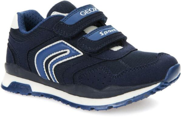 be6b551efe4417 GEOX SNEAKERS BAMBINO/RAGAZZO PAVEL J7215A 014AF MESH+SCAM.SINT NAVY  CASUALSPORT