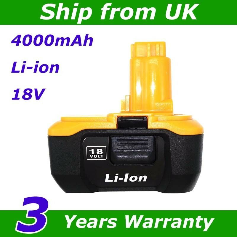 18v 4 0ah Replacement For Dewalt Drill Dc9180 Dc9182 18v