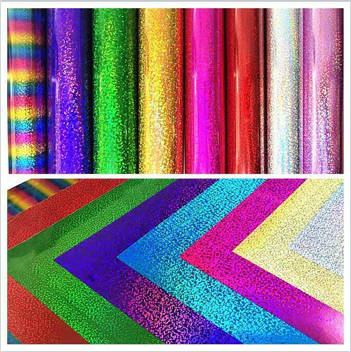 21x29cm Glitter Holographic Iron On Pvc Heat Transfer