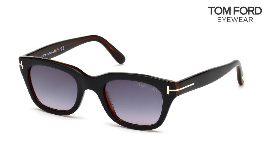 a74ce776398 TOM FORD Sunglasses Snowdon TF237 05B Black Gradient Grey 52mm 664689764686