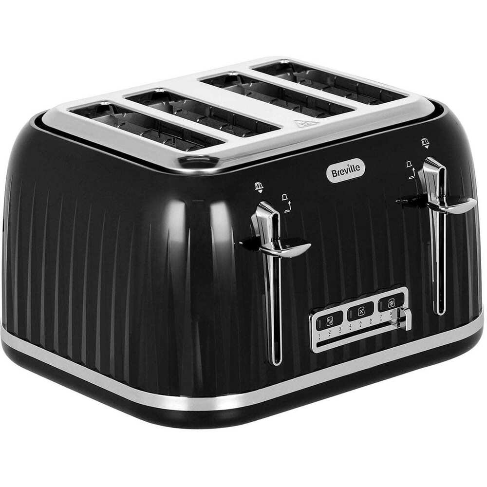 breville vtt476 impressions 4 slice toaster black new from ao ebay. Black Bedroom Furniture Sets. Home Design Ideas