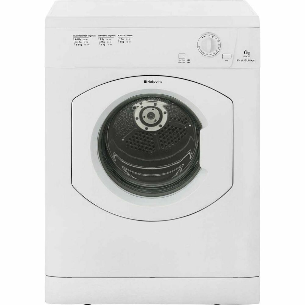Person Tumble Dryer ~ Hotpoint fetv cp first edition c rated kg vented tumble