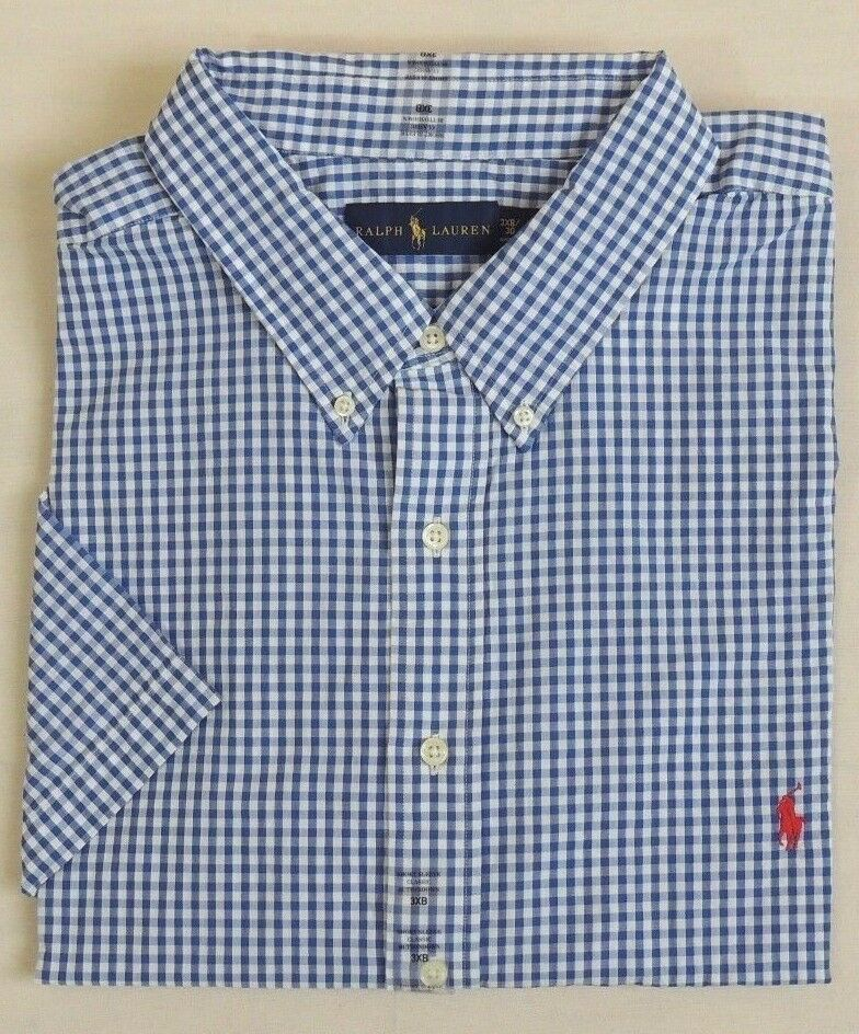 Ralph Lauren Polo Pony Classic Fit Short Slvs Gingham
