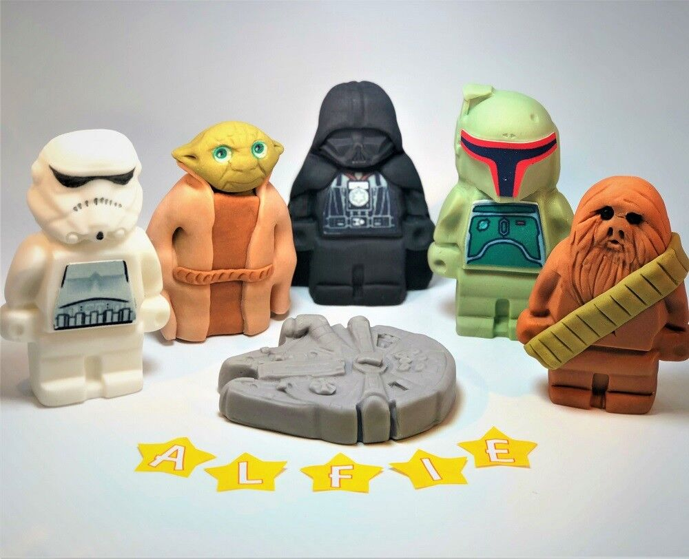 Star Wars Cake Toppers Edible Decoration Personalised