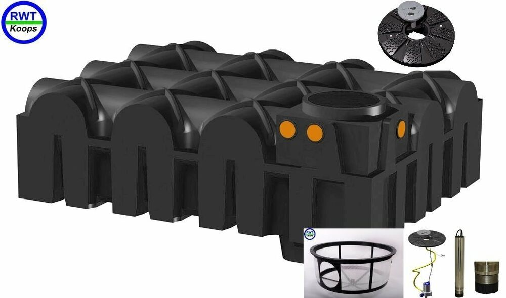 flachtank zisterne automatik anlage erdtank wassertank regenwassernutzung 5000 l ebay. Black Bedroom Furniture Sets. Home Design Ideas