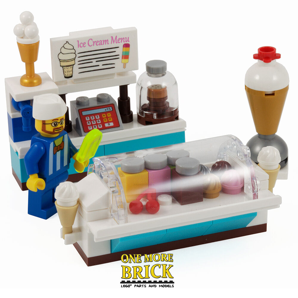Lego Ice Cream Shop Summer Ice Lolly Counter With